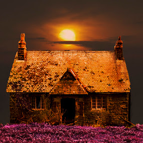 School Cottage by Rach Mathias - Buildings & Architecture Decaying & Abandoned ( sunset, derelict, architecture )