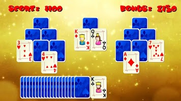 Screenshot of Tri Peaks Gold Solitaire Card