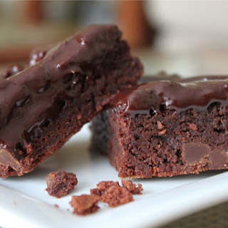 Double Chocolate Brownies with Ganache.