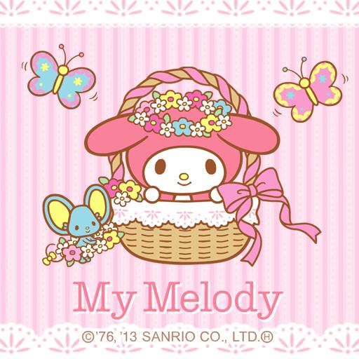 [マイメロディ]花かごにのってライブ壁紙 個人化 App LOGO-APP試玩