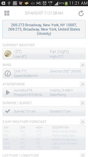 My Location and Weather Info