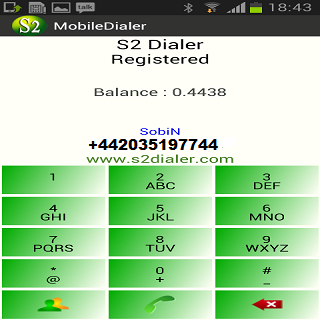 S2 Mobile Dialer - screenshot