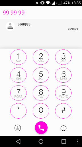 ExDialer ios 8 Theme Pink