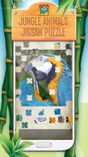 ジャングルの動物ジグソーパズル