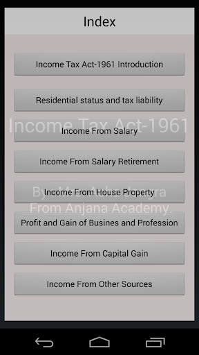 Income Tax Notes