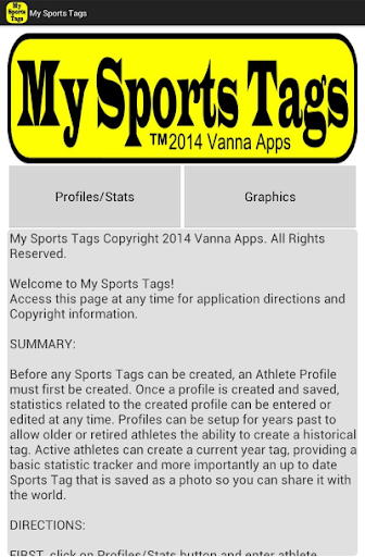 My Sports Tags