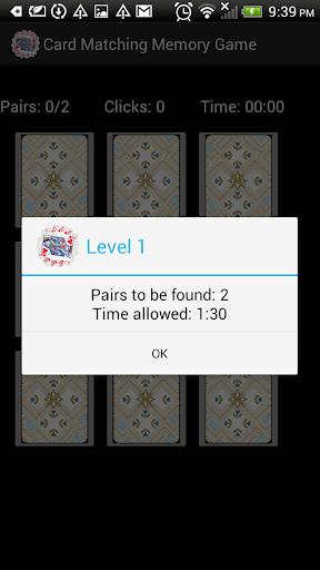 Card Matching Memory Game Free
