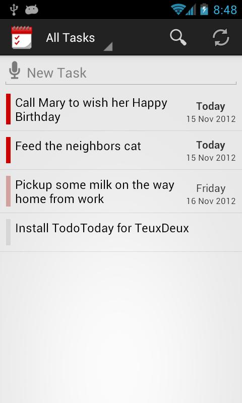 TodoToday for TeuxDeux- screenshot