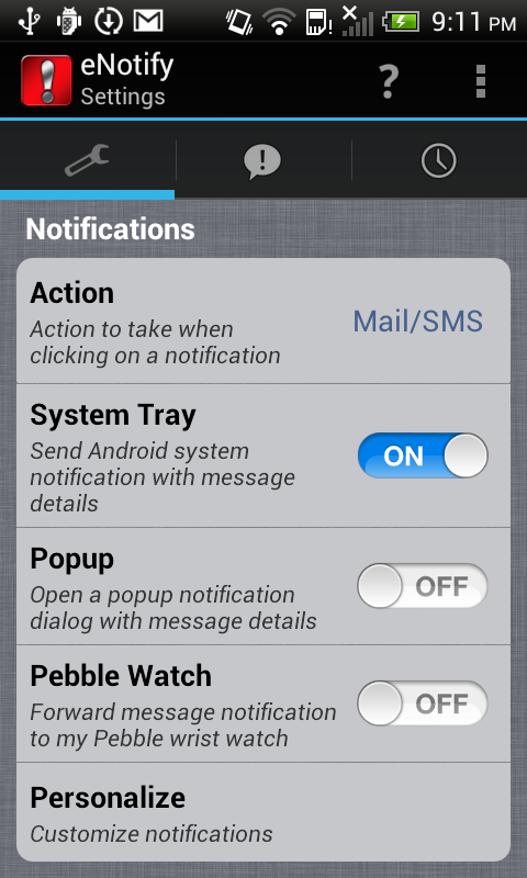 eNotifyLite Email Notification - screenshot