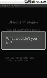 Oblique Strategies - screenshot thumbnail