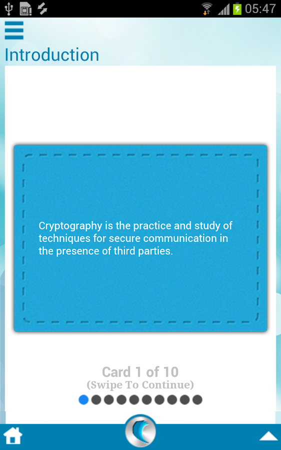 Cryptography by WAGmob - screenshot