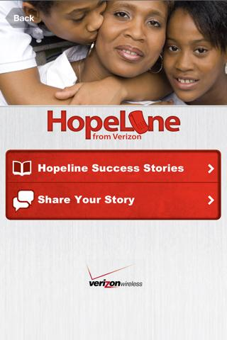 HopeLine from Verizon - screenshot