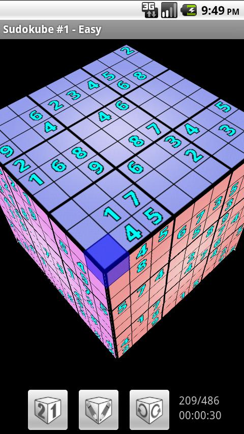 Sudokube - 3D Sudoku - screenshot