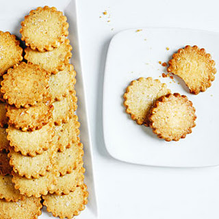 Walnut Shortbread Cookies with Flake Salt and Citrus
