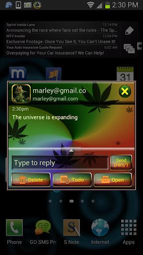 GO SMS Weed Ganja Theme II