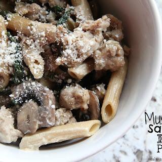 Mushroom Sausage Kale Pasta