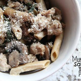 Mushroom Sausage Kale Pasta.