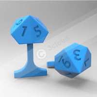 Cufflink with Dice Logo 1