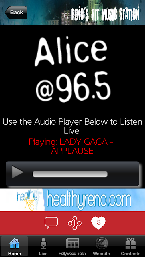Alice 965- screenshot