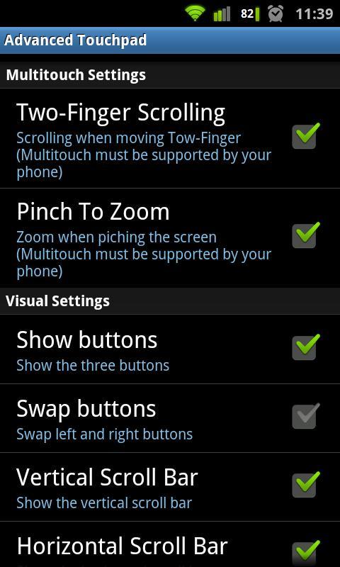 Advanced Touchpad Pro- screenshot