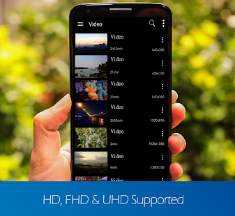 video player for android- screenshot thumbnail