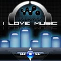 I Love Music Colored Player logo