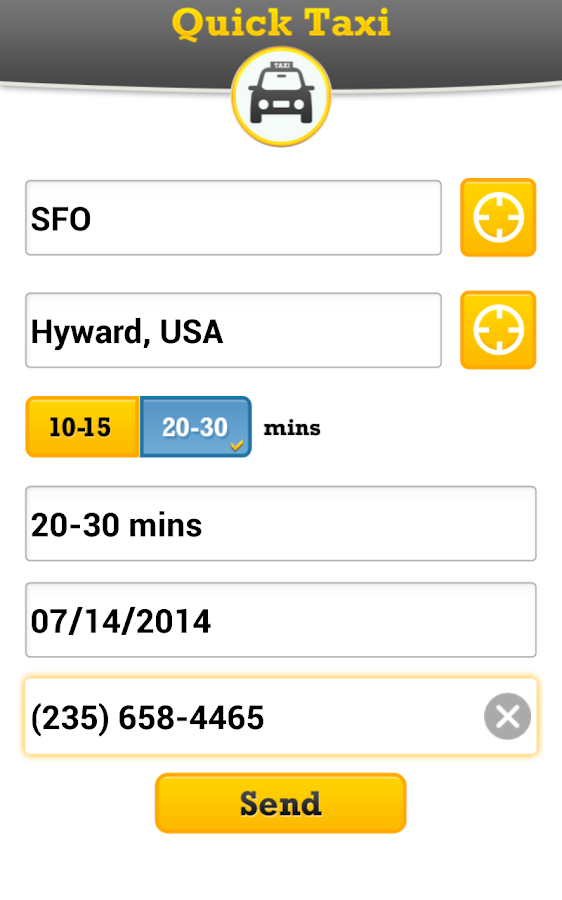 Taxi Cab -SF Bay Area Taxi App- screenshot