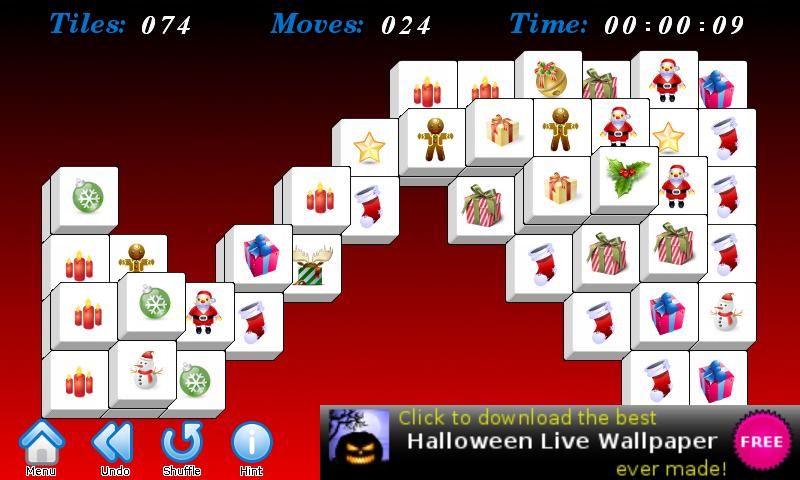 Christmas Mahjong Free - screenshot