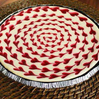 White Chocolate Raspberry Cheesecake.