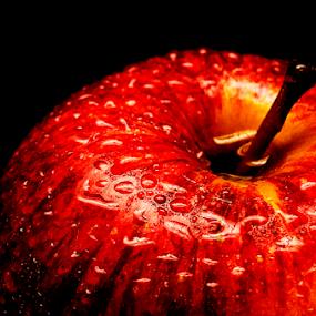 A fresh red apple by Roman Kolodziej - Food & Drink Fruits & Vegetables ( water, macro, red, fresh, zoom, apple, drops, healthy, , Food & Beverage, meal, Eat & Drink )