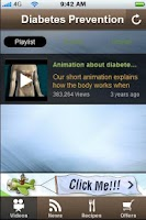 Screenshot of Free Diabetes Prevention Tips.