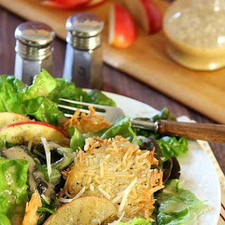 Apple Salad with Parmesan Crisps