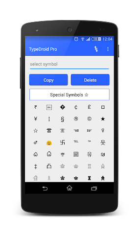 android TypeDroid Pro with Keyboard Screenshot 2