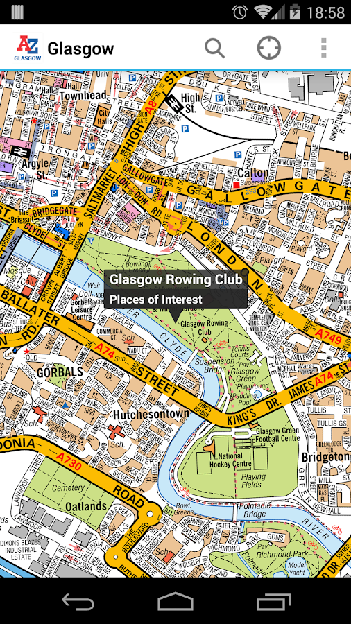 Glasgow A-Z Map by Zuti- screenshot