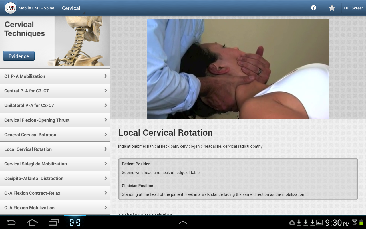 manual therapy techniques for cervical spine