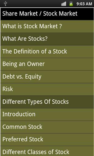 Share Market Guidance