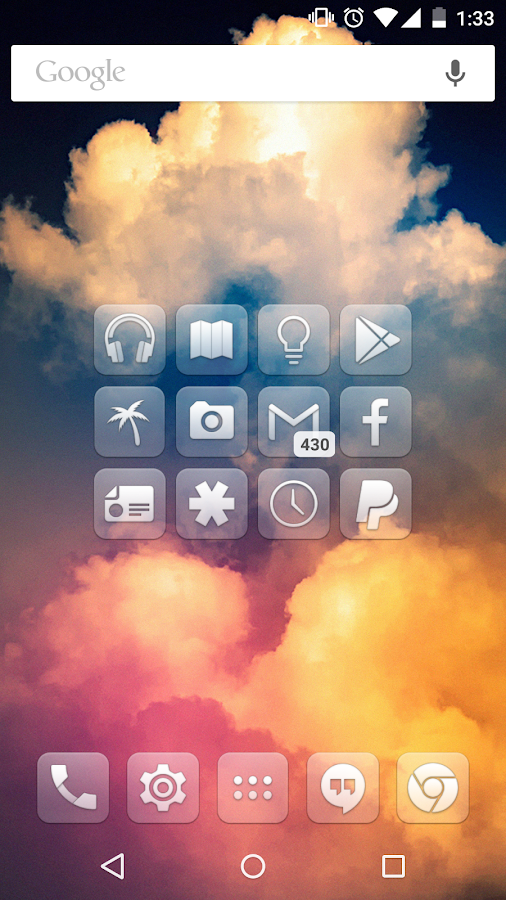 Glasklart - Icon Pack - screenshot