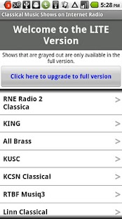 Classical Music Radio Lite - screenshot thumbnail