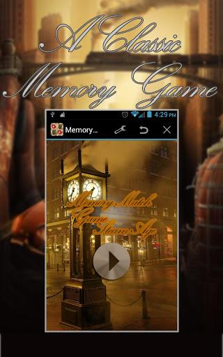 Memory Match Game Steam Age HD