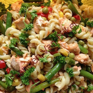 Salmon Pasta Salad.