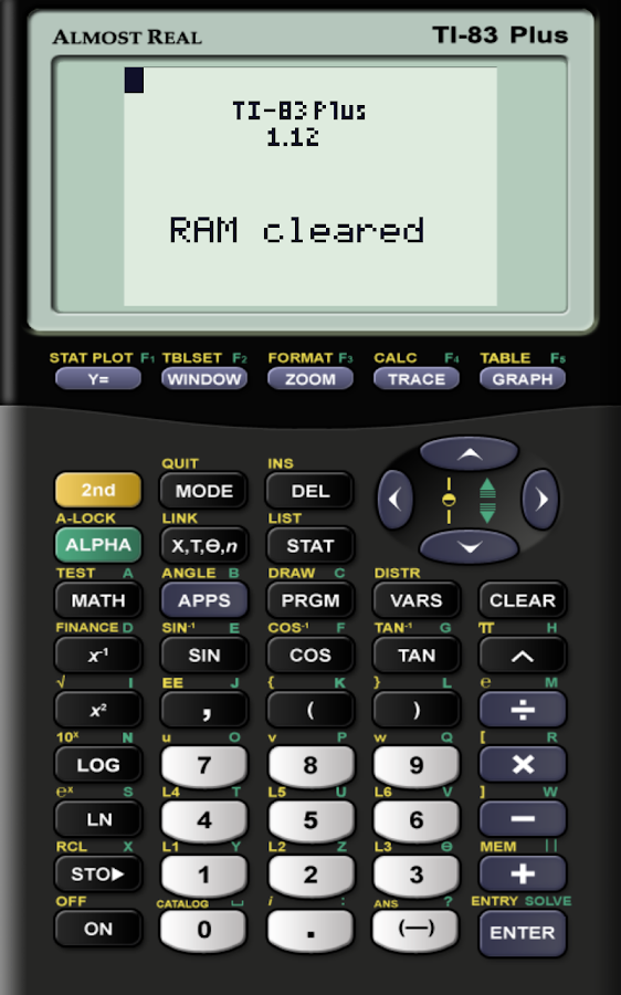 AlmostTI - TI Calc Emulator- screenshot