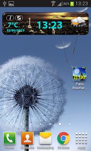 Paris Weather Clock Widget screenshot