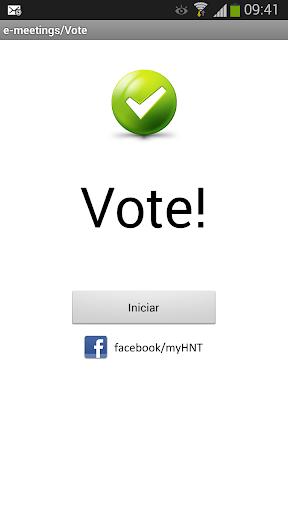E-meetings Vote