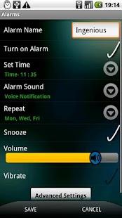 Ingenious Alarm Trial - screenshot thumbnail