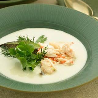 Portuguese White Gazpacho with Crab.