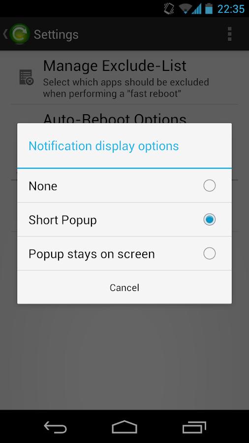 Fast Reboot Pro - screenshot