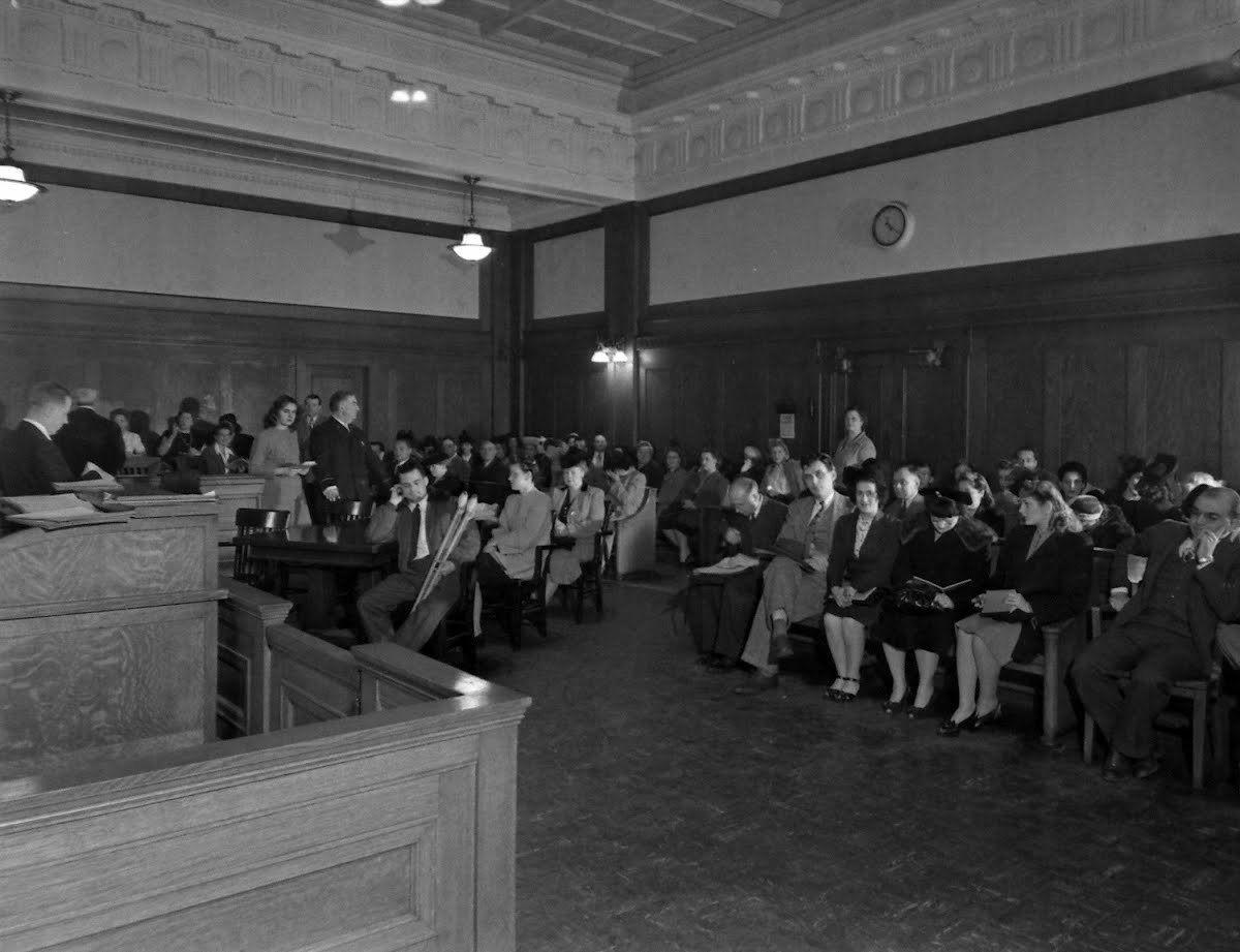 Marriage License Bureau Crowd, Cook County