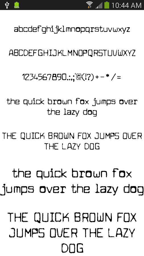 Fonts for FlipFont 50 #2 - screenshot