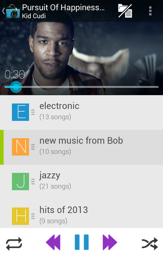 Music Folder Player (original)- screenshot