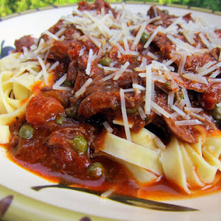 Short Ribs over Pasta and Capers